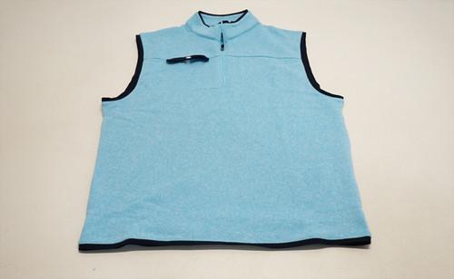 New FootJoy Golf Sweater Fleece Vest Mens Size Large Light Blue/Navy 495F 863385