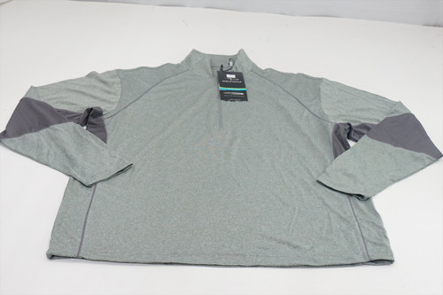 New Page & Tuttle 1/4 Zip Pullover Mens Large Grey 1/4 Zip Sweater 496C 863126