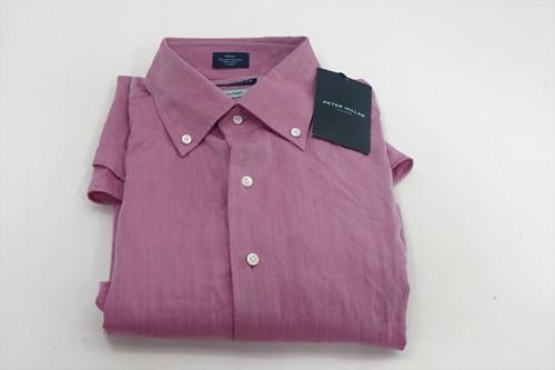 New Peter Millar Golf Classic Button Down Mens Size Medium Purple 500B 00863120