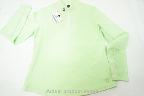 New FootJoy Golf Rib Block Mid-Layer Pullover Womens Medium Sprout 500A 00864681