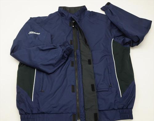 New FootJoy Golf Dryjoys Titleist Jacket Mens Size Large Navy 504A 00866226
