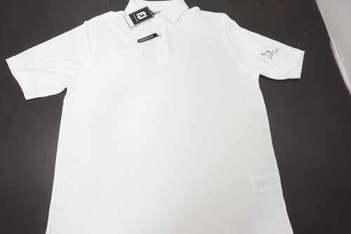 New FootJoy Spun Poly With Chest Pocket AF Polo Mens Large White 515C 871437