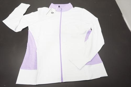 New FootJoy Golf Full-Zip Mid-Layer Jacket Womens Medium White 520B 873809