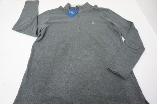 New Gear Golf 1/4Zip Sweater Pullover Mens Size XL Grey W/Logo 525A 00875339