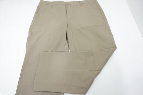 New Ashworth Golf Textured Pants Mens Size W40/L 30 Khaki 526A 00875785