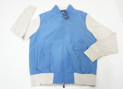 New Peter Millar Stealth Light Cardigan Jacket Mens Medium Lunar 535A 878826