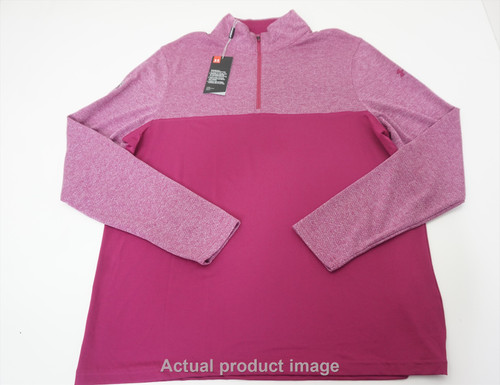 New Under Armour Golf Loose Pullover Mens Size Large Pink 534A 00878797