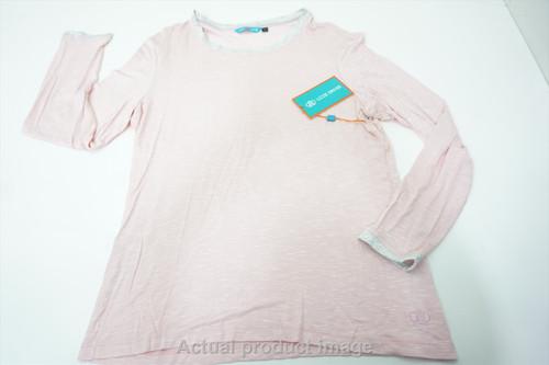 New Lizzie Drive Getaway Sweater Womens Large Light Pink Crewneck 531A 876686