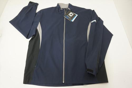 New FootJoy Golf DryJoys Jacket Mens Size Large Navy/Black w/Grey 539A 00882138