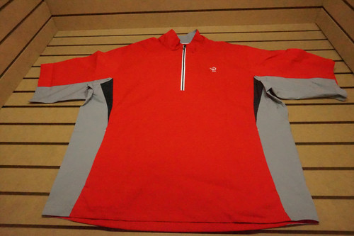 New Footjoy Golf Pullover Mens Size Large Red W/Logo 79C Outerwear