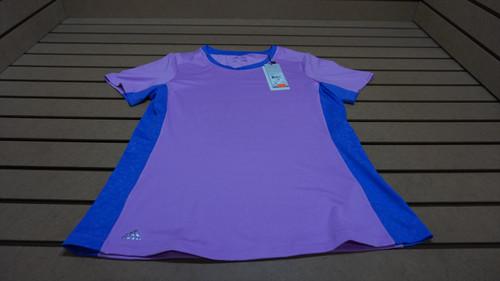 New Adidas Golf Perfromance Stretch Crew Shirt  Womens Size Medium  Lilac  61B