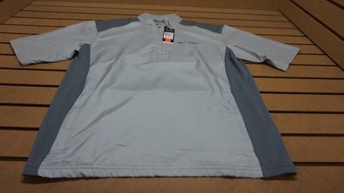 New Adidas Golf Club Wind Shirt  Mens Size Medium  Grey W/Logo 62A