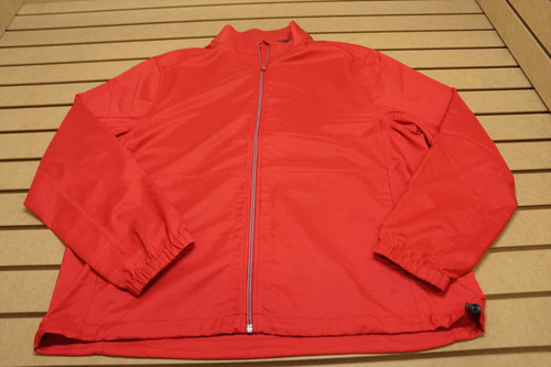New Greg Norman Performance Full Zip Jacket Mens Large Red Heather 4D