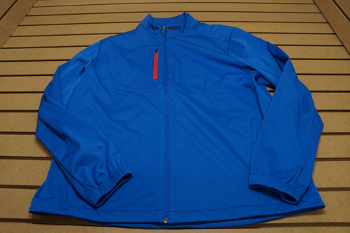 New Greg Norman Weather Knit Jacket Mens Large Maritime 4D Golf Outerwear