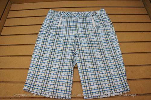 Nwtags Womens Nivo High Iq Cool Comfort Golf Shorts Size 6 White Plaid 00113622