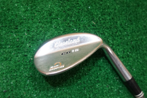 CLEVELAND CG15 SATIN CHROME ZIP GROOVES 56-14 SAND WEDGE FLEX STEEL 0675292