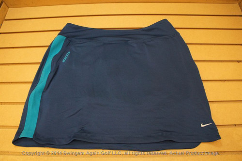 Nwtags Wo Nike Dri-Fit Stay Cool Stretch Golf Skort Large Blue & Teal 00113609