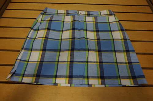 New Loudmouth Golf Plaid Skort Womens Size 10 Blueberry Pie 92C  Clothing