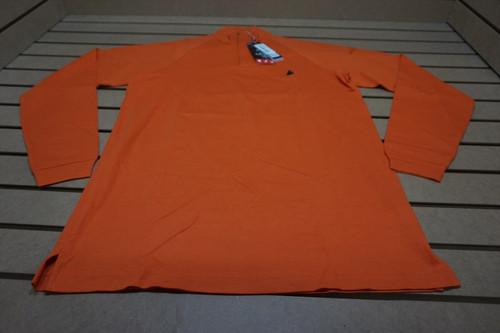 New Bobby Jones Golf X-H2O Pique 1/4 Zip Pullover  Size Small Orange W/Logo 4C