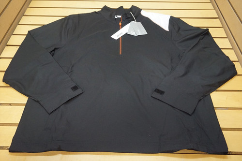New Nike Golf Windtec 1/4 Zip Pullover Mens Size Large Black/White  66D