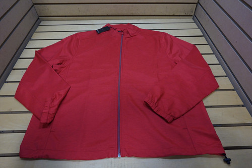 New Greg Norman Golf Technical Performance Jacket Mens Size Large Red 94A