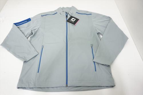 New FootJoy Golf Softshell Jacket Mens Size Large Grey/Royal 560B 00895483