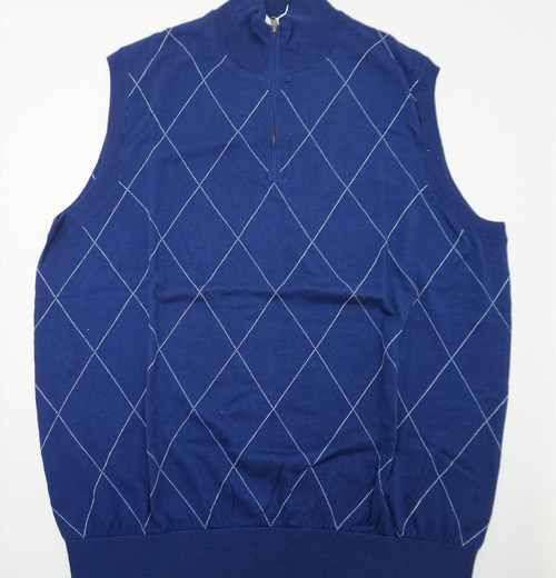 New Fairway & Greene Golf Respect For The Game Vest Mens Size Large  Blue  262C