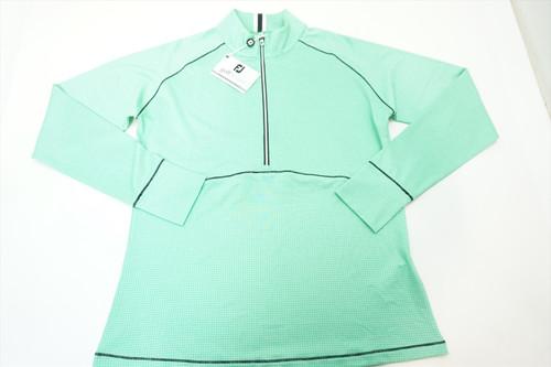 New FootJoy Tonal Dot Print Jersey Midlayer Pullover Size Medium 391A 821213