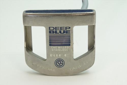 """Guerin Rife Deep Blue 35"""" Putter Good Rh 0915914 Super Stroke Grip"""