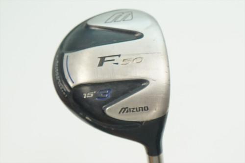 Mizuno F 50 15° 3 Fairway Wood Regular Flex Aldila Nvs 0905946 Good