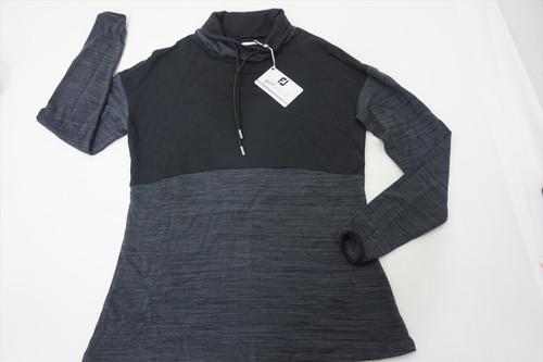 FootJoy Solid Pieced Funnel Collar Midlayer Pullover Womens Medium Black 511B