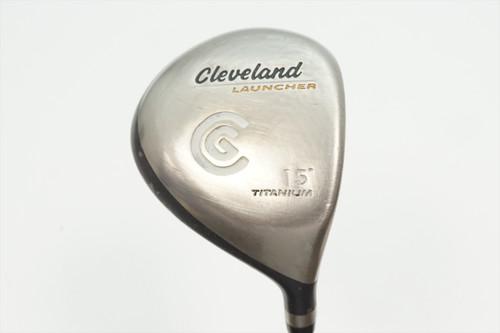 Cleveland Launcher Ti 15° 3 Fairway Wood Stiff Flex Launcher Gold 0935631 Good
