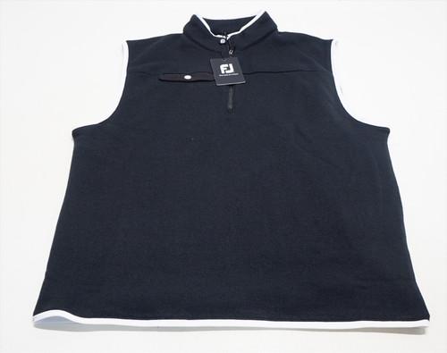 New FootJoy Golf Sweater Fleece Vest Mens Size Large Navy 495F 00863388