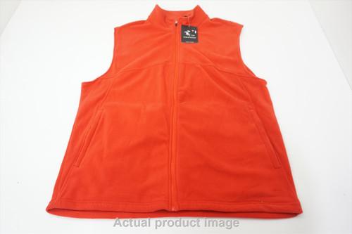 New Page & Tuttle Golf Full Zip Vest Mens Size Large Orange 534B 00878813