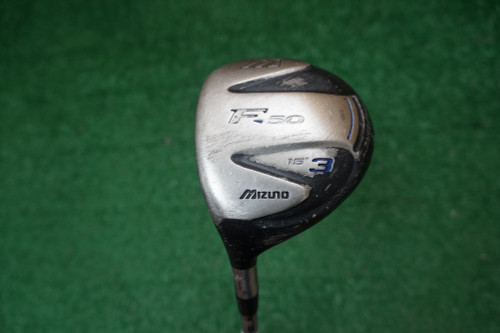 Lh Mizuno F-50 15 Degree 3 Fairway Wood Stiff Flex Steel 0274538 Used Golf