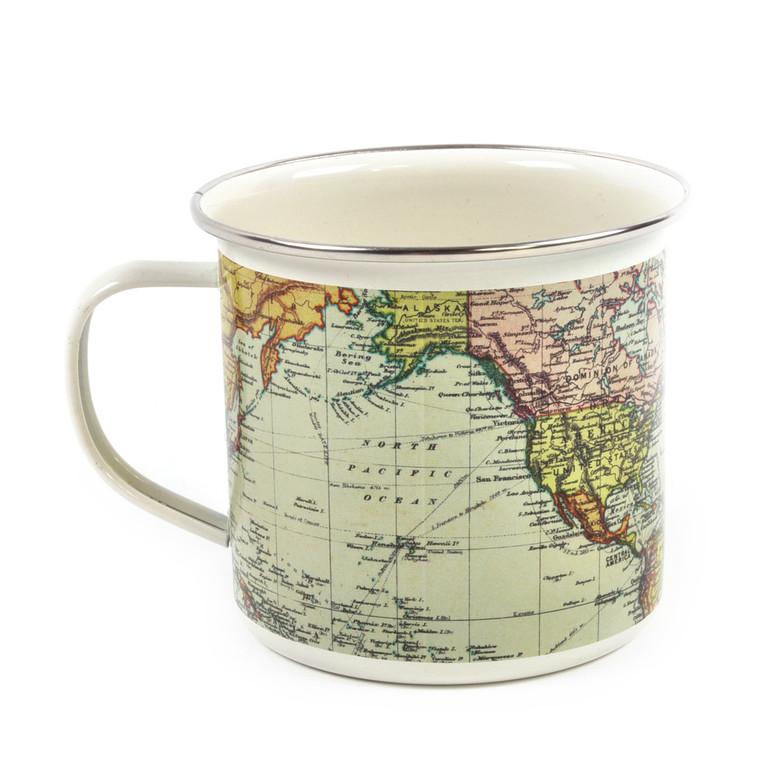 Map Enamel Mug