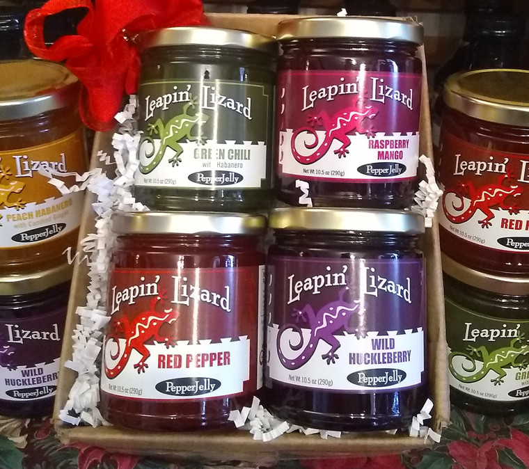 4 jar pepper jelly gift box