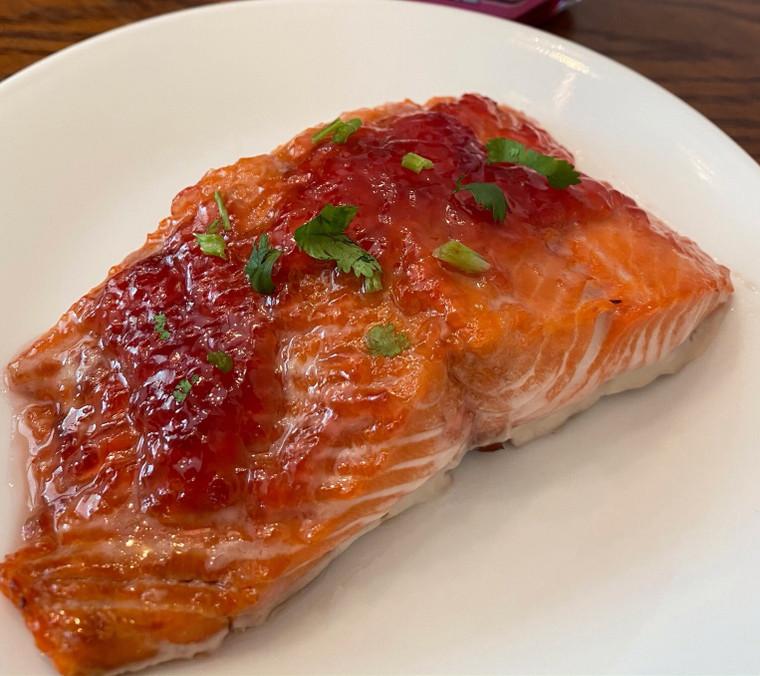 Blackberry & Ginger Glazed Salmon Recipe