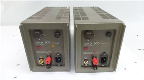 Quad 50D Power Amplifiers RCA Inputs and 4mm Speaker Sockets