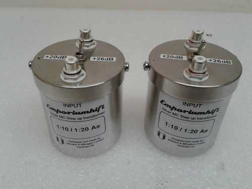 Stevens & Billington 10:1 / 5:1 Silver Moving Coil Step Up Transformers