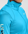 W Under Armour Cold Gear Armour Graphic 1/2 Zip Blue