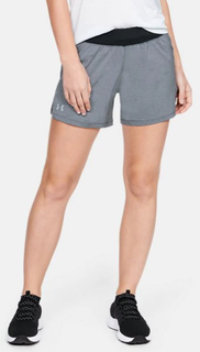 "W UA Launch 5"" Short Grey AW20"