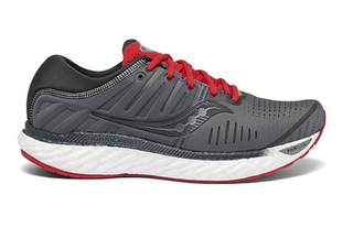 M Saucony Hurricane 22 Charcoal/Red