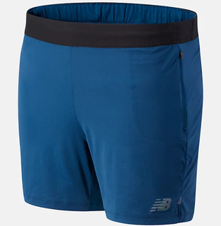 "M New Balance Q Speed 7"" Short Blue"