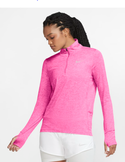 W Nike Element 1/2 Zip Pink AW20