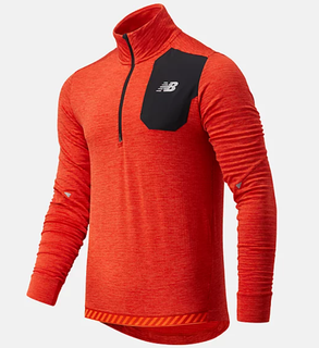 M New Balance Impact Grid 1/2 Zip Orange
