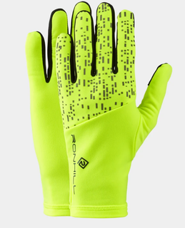 A Ron Hill Night Runner Glove Yellow