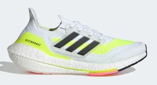 W Adidas Ultraboost 21 White/Yellow
