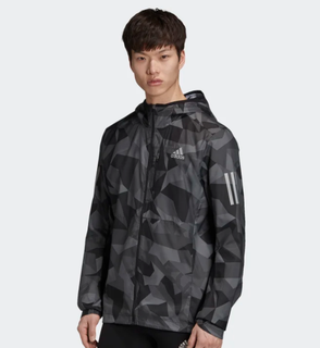 M Adidas Own The Run Jacket Grey Camo