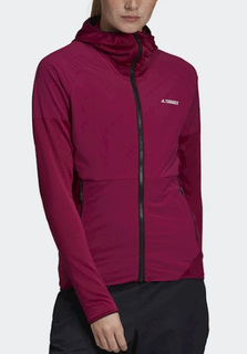 W Adidas Skyclimb Fleece Jacket Berry